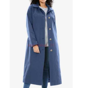 Woman Within water resistant belted TRENCH COAT 77